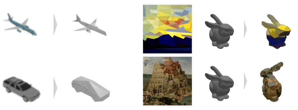 画像から、好みのメッシュの3Dモデルを作成する -Neural 3D Mesh Renderer-