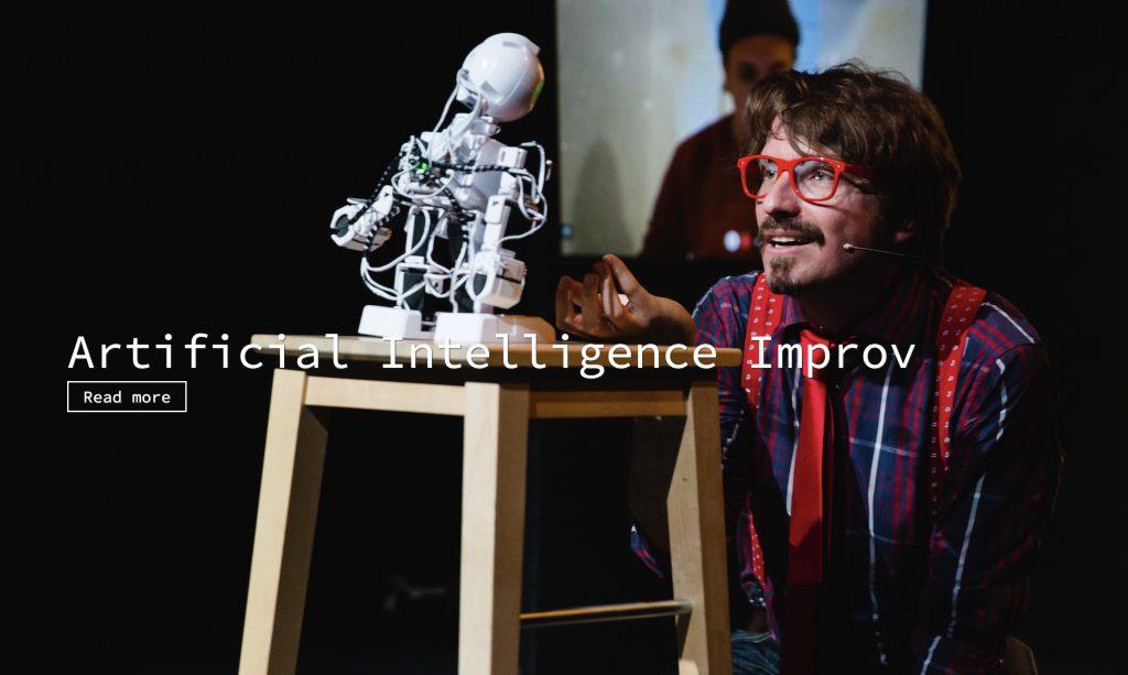 ロボットを交えての即興コメディ HumanMachine – Artificial Intelligence Improvisation