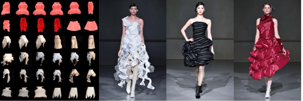 ファッションデザイナーを助けるツール – Human and GAN collaboration to create haute couture dress